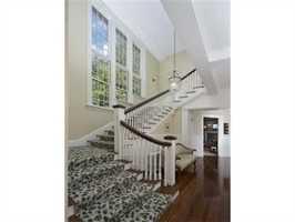 An elegant stairway.