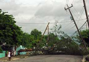 Sandy was a Category 2 hurricane when it wreaked havoc in Cubaon Thursday, killing 11 people in eastern Santiago and Guantanamo provinces