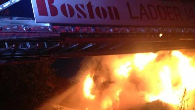 Allston Fire Burning