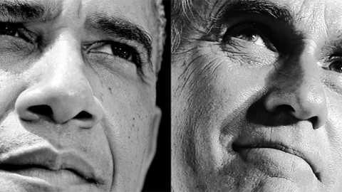Obama Romney Visions Merge