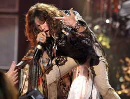 Steven Tyler, of musical group Aerosmith, performs onstage at the American Idol Finale on Wednesday, May 23, 2012 in Los Angeles.