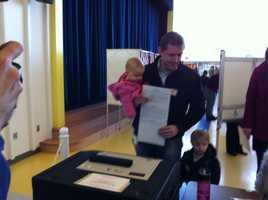 Congressional candidate Sean Bielat votes