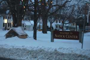 Natick got 2.5 inches of snow according to the National Weather Service.(All photos are of the location referenced, but for illustrative purposes and not necessarily from the Nov. 7 storm)
