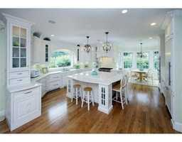 Large gourmet kitchen with separate breakfast area,island and pantry.