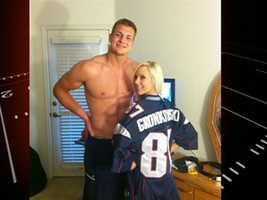 Gronkowski got in trouble when he loaned his jersey to porn star BiBi Jones for a picture.