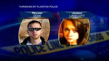 Authorities searhced for 27-year-old Roland Dow and 23-year-old Jessica Linscott, who are accused of assaulting Linscott's 3-year-old child.