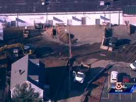 A gas leak in Saugus has prompted several evacuations Monday morning. The leak was reported near 17 Pine St. at around 9 a.m.