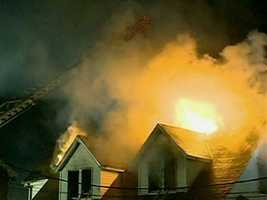 A fire tore through an abandoned building in Quincy on Nov. 27.