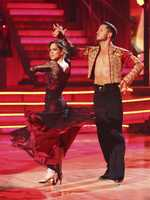 Kelly Monaco garnered a pair of 29.5's for her paso doble and freestyle.