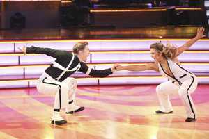 Johnson chose to repeat a previous dance for her other routine.