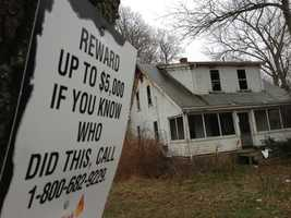 An unoccupied farm house on Route 58 in Halifax went up in flames on Nov. 26.