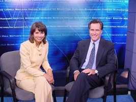 NewsCenter's Liz Brunner interviews then presidential candidate Mitt Romney.