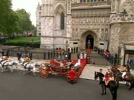 The carriage outside the abbey.