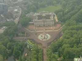 Buckingham Palace from the air.