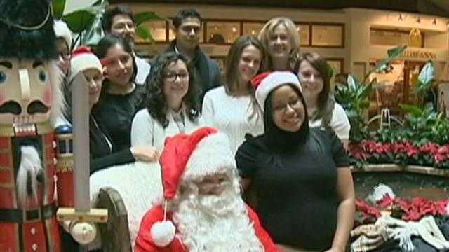 Globe Santa making holidays bright