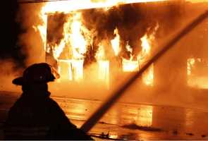 A fire broke out on Nov. 27 at a vacant commercial building on Main Street in Hanson.