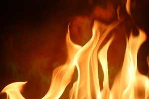 A vacant garage caught fire on Main Street in Plympton on Nov. 26.
