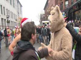 "The event was sponsored by the movie ""Ted"" which was filmed in Boston."