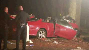 A one-car crash in Taunton claimed the lives of two people Sunday morning and injured four others.