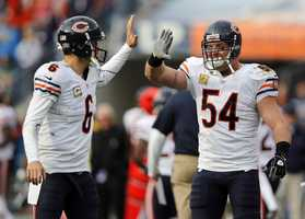 1) Chicago Bears - Uni Watch says the Bears may be the only team in the league who look as sharp on the road as they do at home.  It's only negative has to do with the team logo - is the logo starting to feel old?