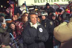 Mr. New Years Dick Clark during his 1997 Rockin' Eve broadcast.