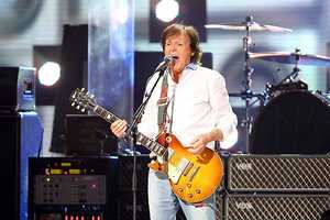 Paul McCartney performed for 40 minutes