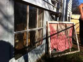 Thieves entered by breaking through a basement window