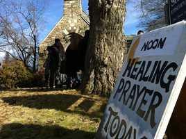 St. John's is one of many area churches where mourners are turning to for comfort.