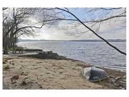 A private beach.
