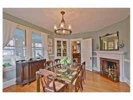 The main home has gorgeous period details.