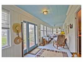 A long winding drive leads to the stunning Victorian.