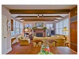 A cozy fireplace.