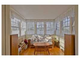A sunroom.