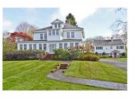 A view of the two homes.