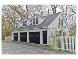 The three car garage.