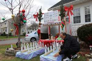 He normally decorates the home in hundreds of Christmas lights. Following the school tragedy, he went to work to build a neighborhood memorial for every victim of the Newtown school shooting.
