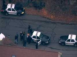 Multiple police units were part of the police pursuit through the streets of Lynn.