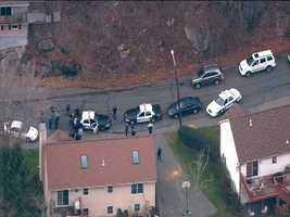 This is a wide view of Cliff Street in Lynn, where the carjacking suspect was arrested.