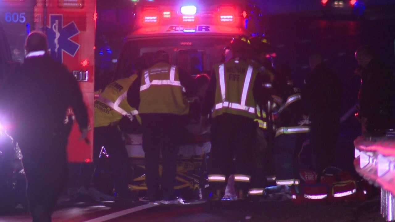 Pedestrian hit on Route 128