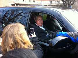 Menino is released from Spaulding Rehabilitation Hospital on Dec. 23, 2012 after spending weeks there regaining his strength after his release from Brigham & Women's Hospital.