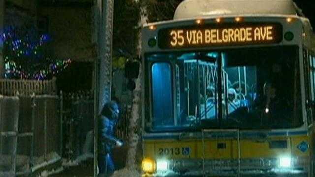 mbta bus night snow