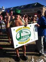 The L-Street Brownies rang in 2013 bright and early on New Year's Day with a chilly dip in Boston Harbor.