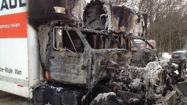 Burned uHaul Trucks