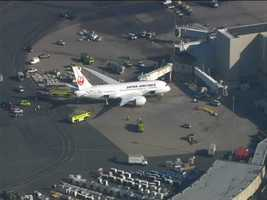 A fire was reported in a plane at Logan Airport on Monday morning