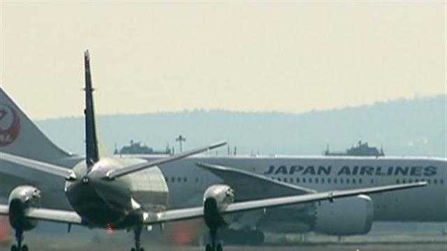Jet stopped after fuel spotted on runway
