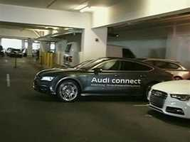Audi is showing off a car that not only parks itself, but canthen pick you up.