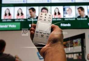 The new Samsung Smart Touch remote.
