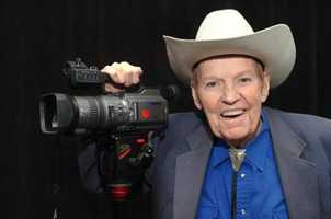 """Rex Trailer was a New England TV icon, beloved by a generation of children for the cowboy skills he demonstrated on the Boston-based television show """"Boomtown.""""(September 16, 1928 - January 9, 2013)"""