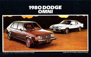 David's first car was a black 1980 Dodge Omni.