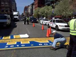 David's favorite Boston landmark is the Marathon's Start/Finish line.